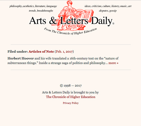 arts letters daily cabinet cabinet press 20509